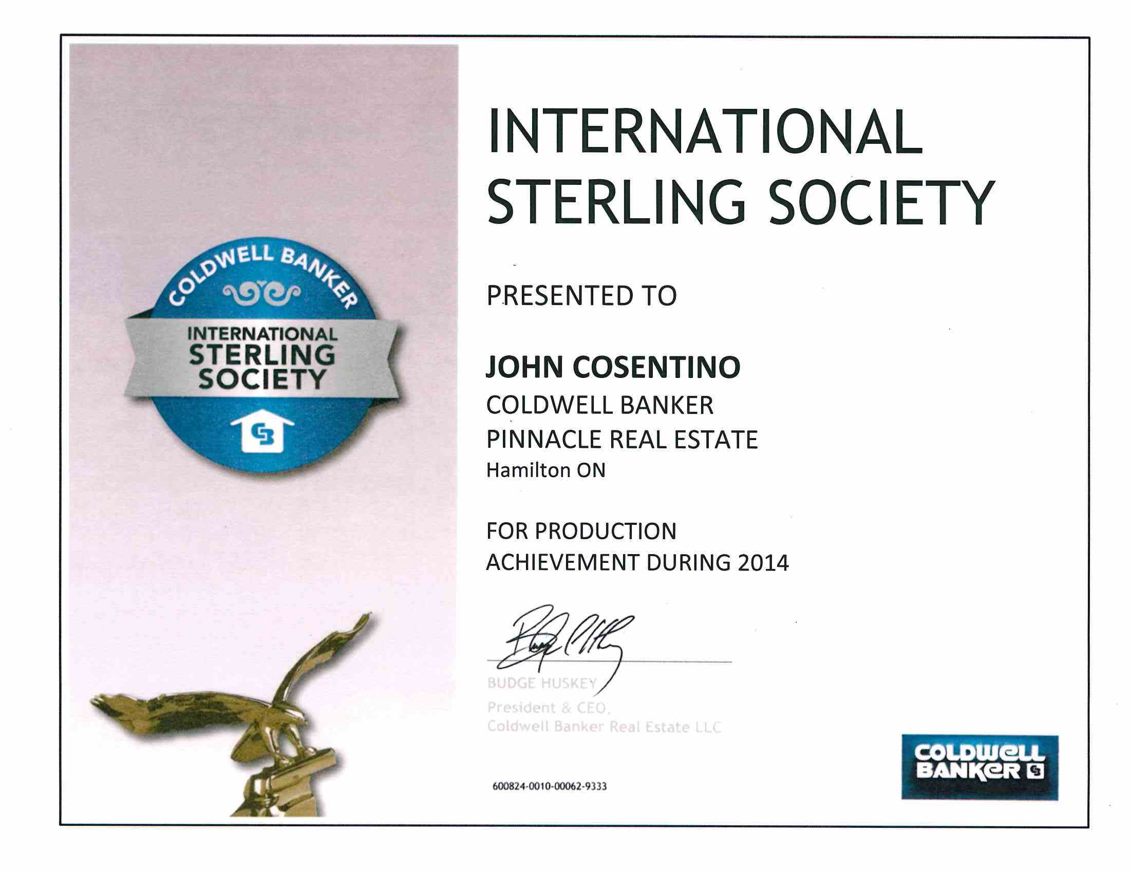 International Sterling Award